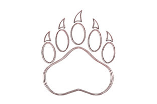 Bear Paw Scribble Stitch Woodland Animals Embroidery Design By SweetDesign