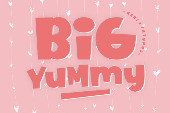 Print on Demand: Big Yummy Display Font By Dani (7NTypes)
