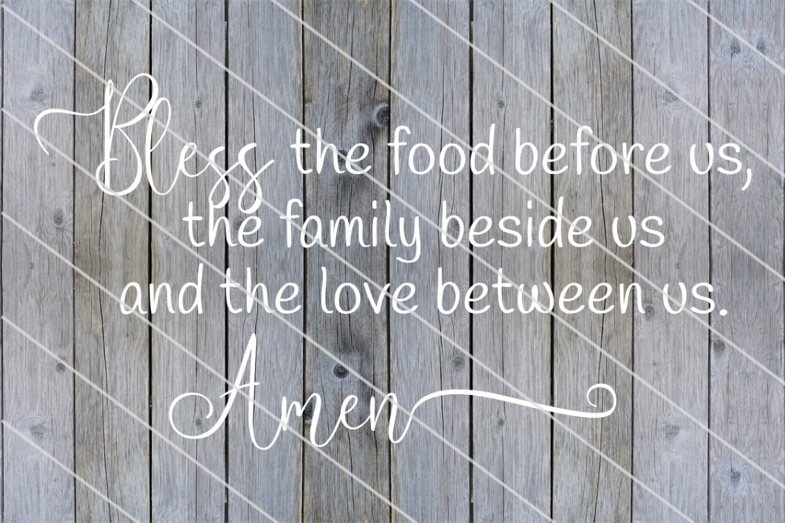 Download Free Bless The Food Before Us Graphic By Amy Anderson Designs for Cricut Explore, Silhouette and other cutting machines.