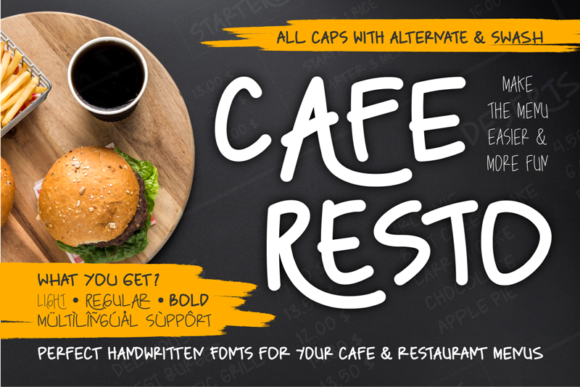 Download Free Caferesto Font By Arukidz Fl Creative Fabrica for Cricut Explore, Silhouette and other cutting machines.