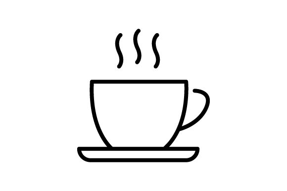 Download Free Coffee Cup Linear Icon Vector Hot Drink Graphic By for Cricut Explore, Silhouette and other cutting machines.