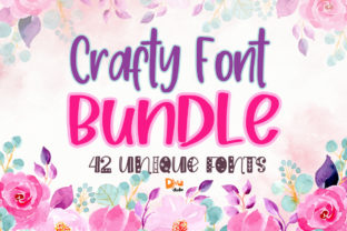 Print on Demand: Crafty Font Bundle Bundle By dmletter31