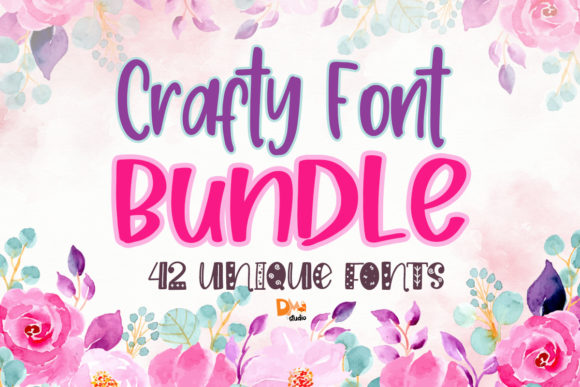 Print on Demand: Crafty Font Bundle  By dmletter31