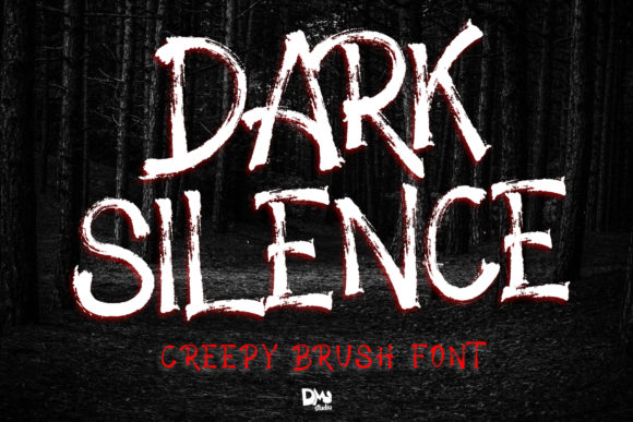 Print on Demand: Dark Silence Display Font By dmletter31