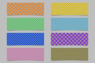 Download Free Dot Pattern Banner Background Set Graphic By Davidzydd for Cricut Explore, Silhouette and other cutting machines.