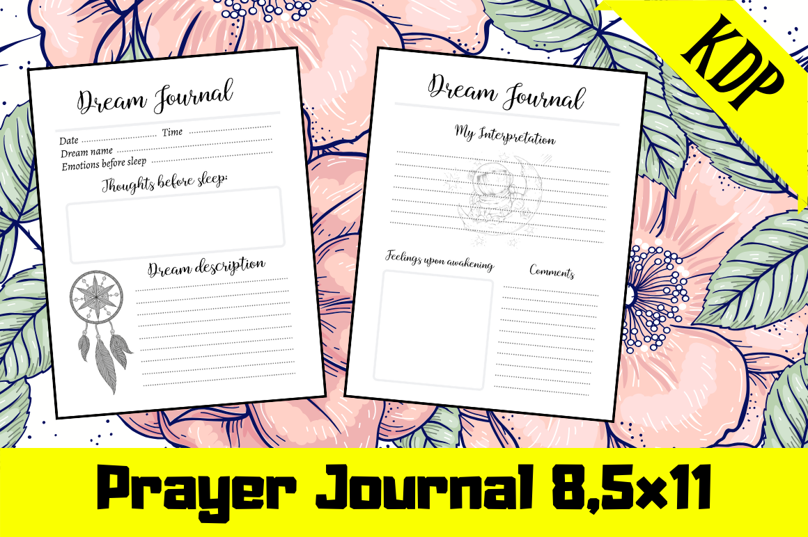 Download Free Dream Journal Kdp Interior Graphic By Hungry Puppy Studio for Cricut Explore, Silhouette and other cutting machines.