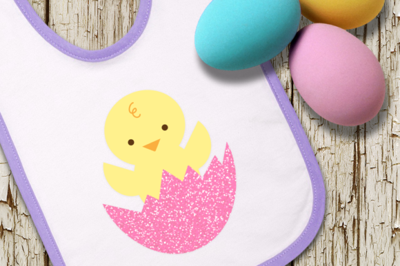 Download Free Easter Chick In Cracked Egg Graphic By Designedbygeeks for Cricut Explore, Silhouette and other cutting machines.