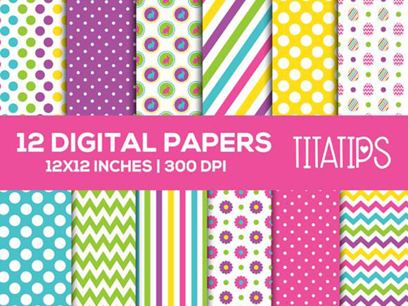 Download Free Happy Mother S Day Digital Papers Set Graphic By Titatips for Cricut Explore, Silhouette and other cutting machines.