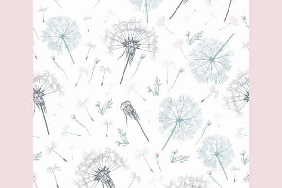 Download Free Elegant Simple Vector Pattern Dandelion Graphic By for Cricut Explore, Silhouette and other cutting machines.