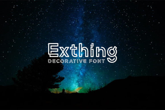 Download Free Exthing Font By Nico Muslib Creative Fabrica for Cricut Explore, Silhouette and other cutting machines.