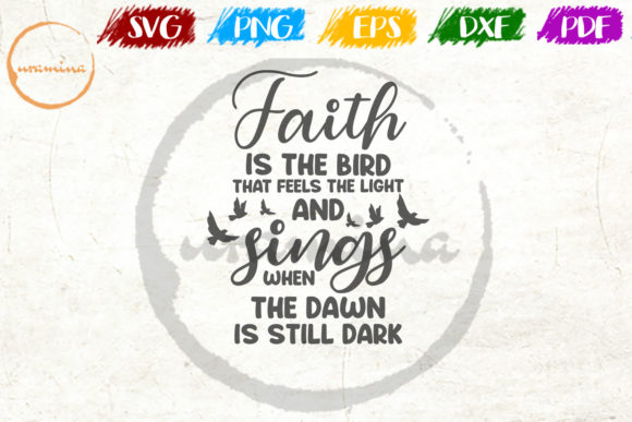 Faith Is The Bird That Feels The Light Graphic By Uramina