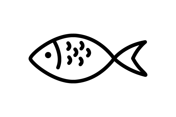Download Free Fish Thin Line Style Icon Graphic By Deniprianggono78 Creative for Cricut Explore, Silhouette and other cutting machines.