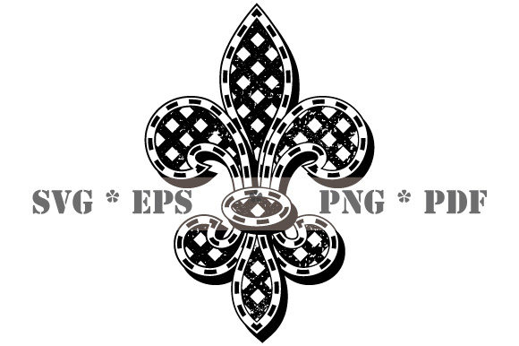 Download Free Fleur De Lis Black And White Vintage Graphic By Graphicsfarm for Cricut Explore, Silhouette and other cutting machines.