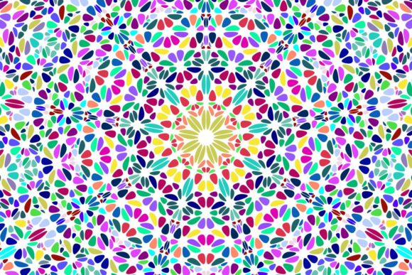 Floral Mandala Background Graphic Patterns By davidzydd