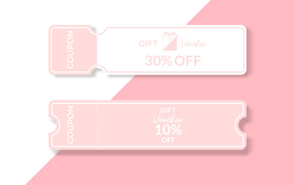 Download Free Gift Voucher Template Design Graphic By Ngabeivector Creative for Cricut Explore, Silhouette and other cutting machines.