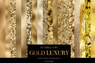 Print on Demand: Gold Luxury Graphic Textures By The Rose Mind