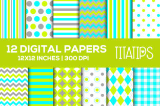 Happy Father's Day Digital Papers Set Graphic Patterns By TitaTips