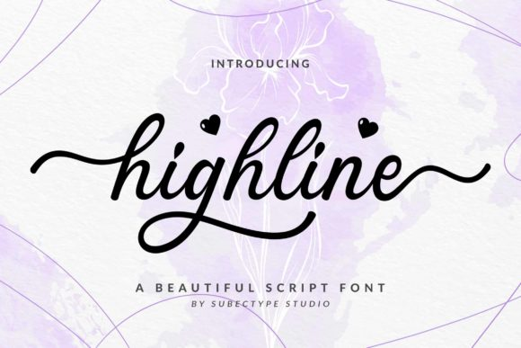 Print on Demand: Highline Script & Handwritten Font By Subectype