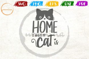 Print on Demand: Home is Where My Cat is Graphic Crafts By Uramina
