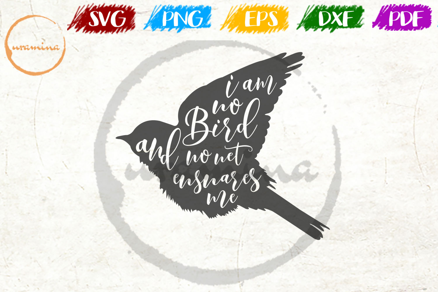 Download Free I Am No Bird And No Net Ensnares Me Graphic By Uramina for Cricut Explore, Silhouette and other cutting machines.