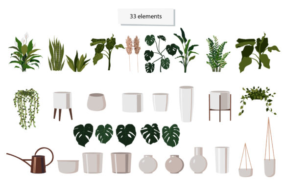Indoor Plants Clipart Graphic Illustrations By lena-dorosh - Image 3