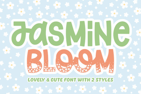 Print on Demand: Jasmine Bloom Display Font By Orenari