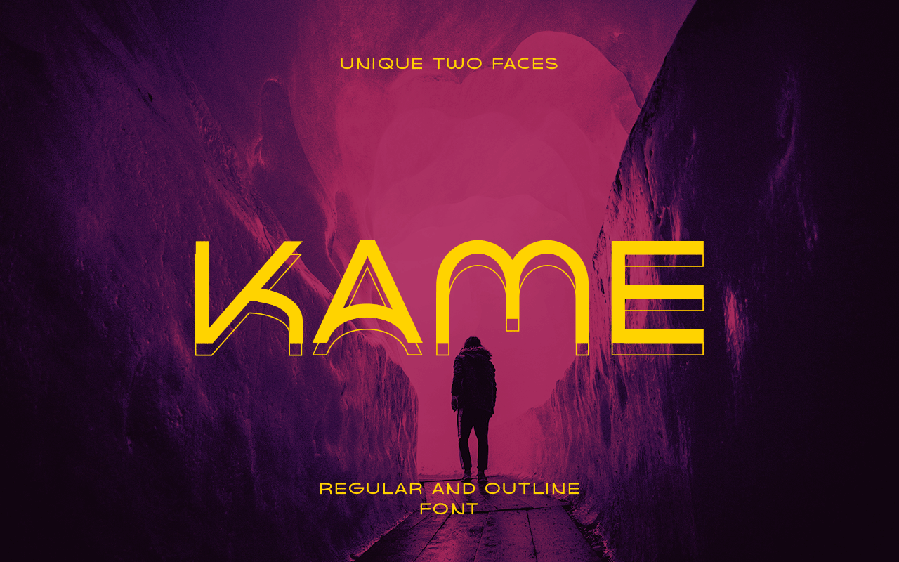 Download Free Kame Font By Jehoocreative Creative Fabrica for Cricut Explore, Silhouette and other cutting machines.