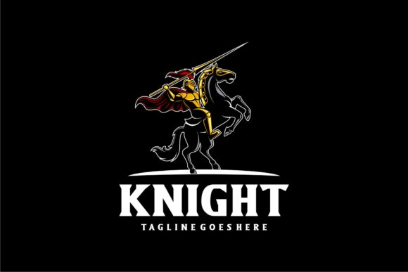 Knight and Horse Graphic Logos By Herulogo