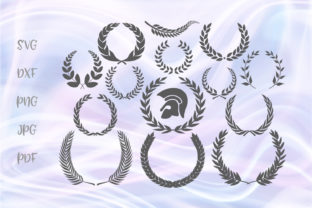 Download Free Laurel Wreath For Cricut Vector Cut Graphic By Digitals By Hanna for Cricut Explore, Silhouette and other cutting machines.