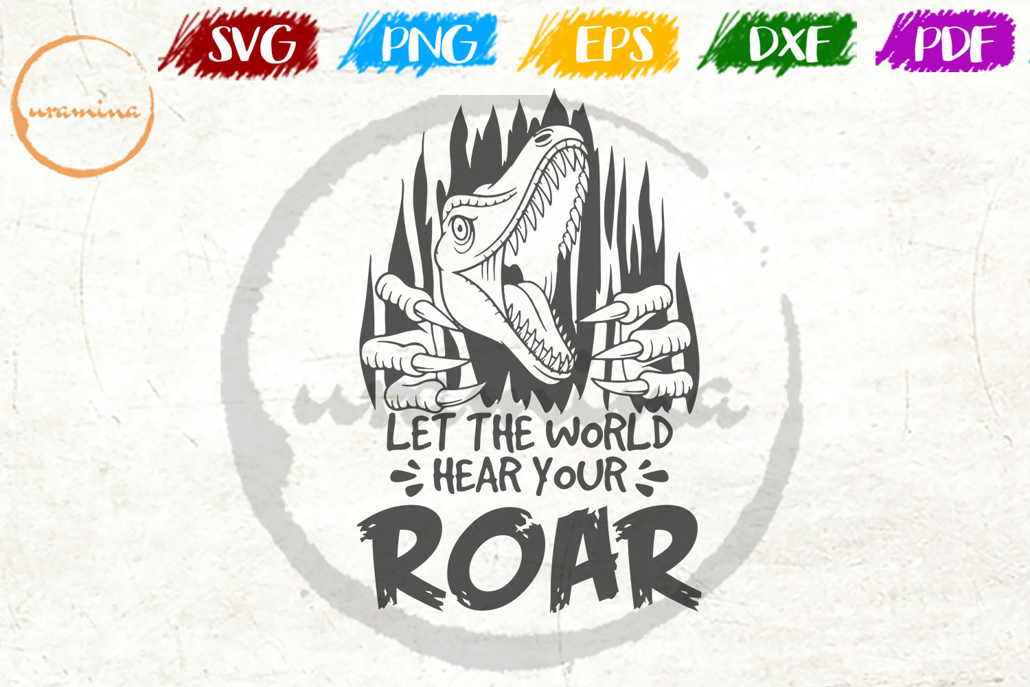Download Free Let The World Hear You Roar Graphic By Uramina Creative Fabrica for Cricut Explore, Silhouette and other cutting machines.