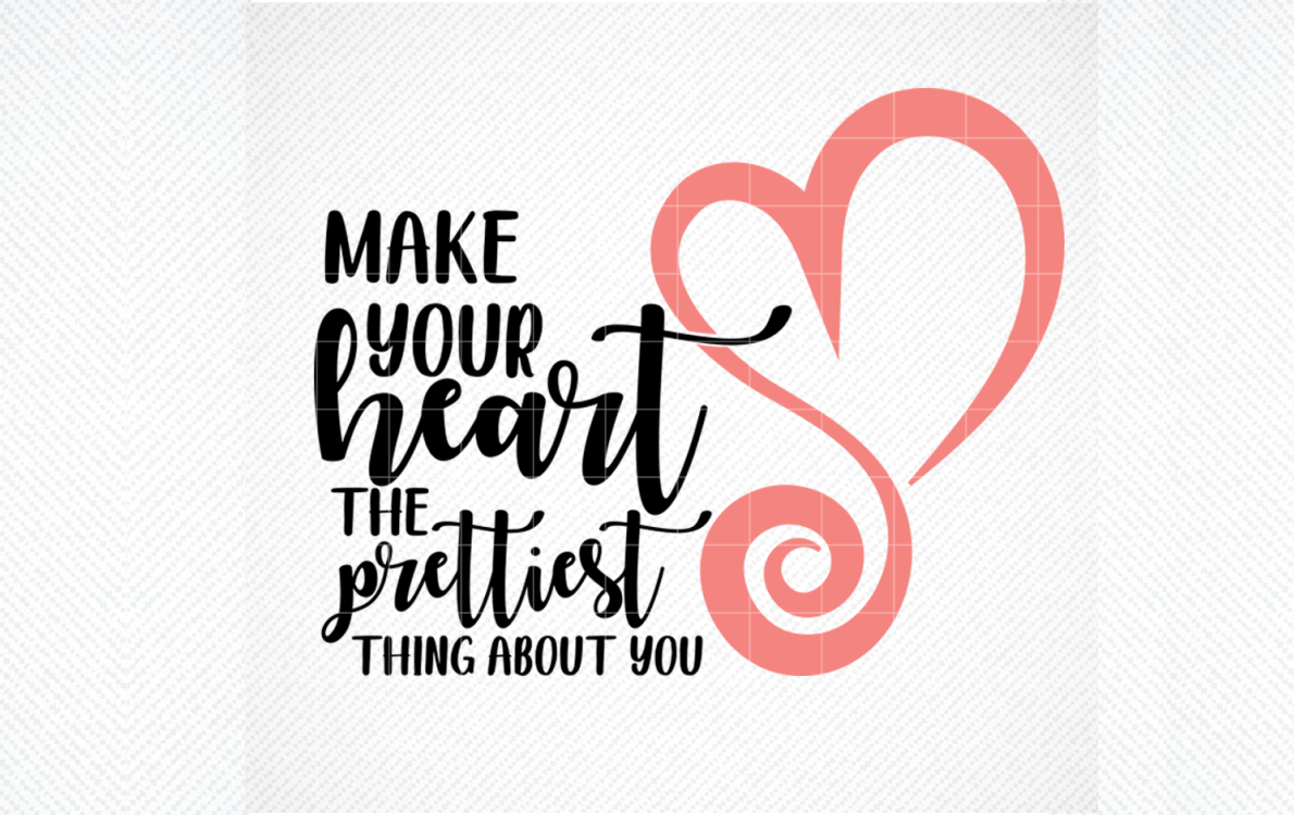 Download Free Make Your Heart The Prettiest Thing Graphic By Svg Den for Cricut Explore, Silhouette and other cutting machines.