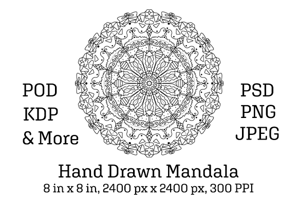 Download Free Mandala 01 Graphic By Pod Emporium Creative Fabrica for Cricut Explore, Silhouette and other cutting machines.