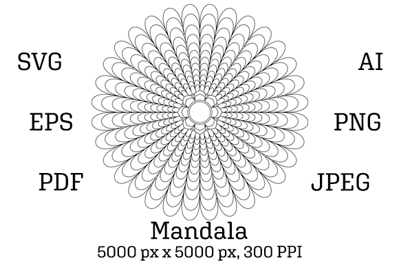 Download Free Mandala 02 Graphic By Pod Emporium Creative Fabrica for Cricut Explore, Silhouette and other cutting machines.