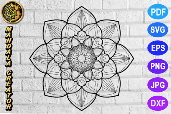 Print on Demand: Mandala Monogram Vector Art Graphic Coloring Pages & Books Adults By V-Design Creator