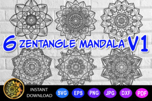 Download Free Mandala Cut File Monogram Vector V 1 Graphic By V Design Creator for Cricut Explore, Silhouette and other cutting machines.