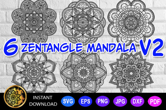 Download Free Mandala Monogram Entangle 9 Graphic By V Design Creator for Cricut Explore, Silhouette and other cutting machines.