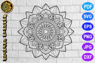 Download Free Mandala Monogram Entangle 2 Graphic By Mandala Creator for Cricut Explore, Silhouette and other cutting machines.