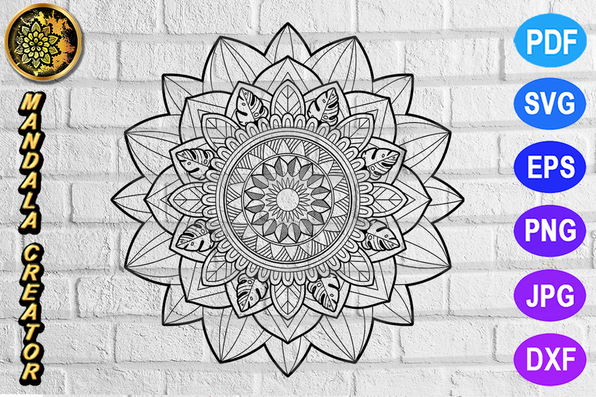 Download Free Mandala Monogram Entangle 2 Graphic By Mandala Creator Creative Fabrica for Cricut Explore, Silhouette and other cutting machines.
