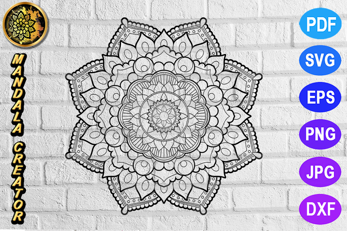 Download Free Mandala Monogram Entangle 4 Graphic By V Design Creator for Cricut Explore, Silhouette and other cutting machines.