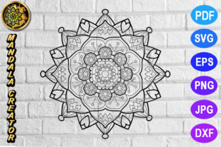 Download Free Mandala Monogram Entangle 5 Graphic By Mandala Creator for Cricut Explore, Silhouette and other cutting machines.