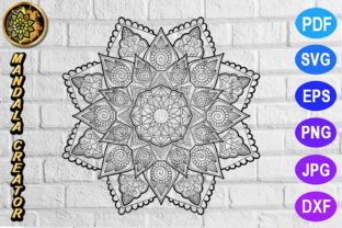 Download Free Mandala Monogram Entangle 6 Graphic By Mandala Creator for Cricut Explore, Silhouette and other cutting machines.