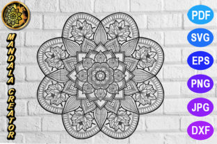 Print on Demand: Mandala Monogram Entangle 7 Graphic Coloring Pages & Books Adults By V-Design Creator