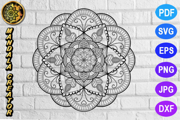 Print on Demand: Mandala Monogram Entangle 8 Graphic Coloring Pages & Books Adults By V-Design Creator