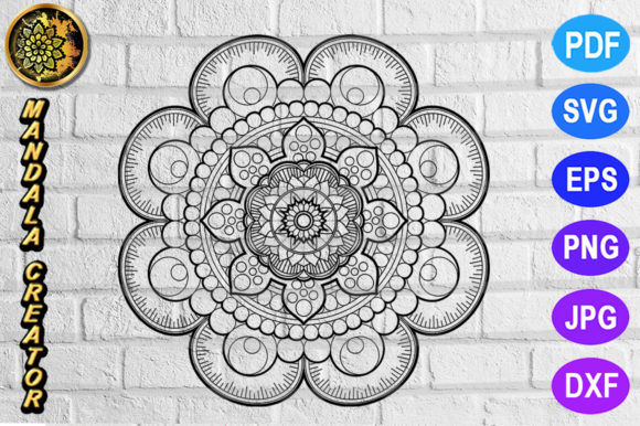 Print on Demand: Mandala Monogram Entangle 9 Graphic Coloring Pages & Books Adults By V-Design Creator