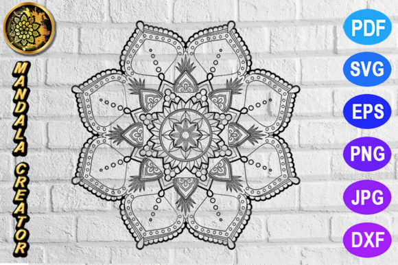 Print on Demand: Mandala Monogram Entangle 10 Graphic Coloring Pages & Books Adults By V-Design Creator