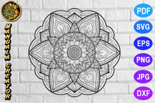 Download Free Mandala Monogram Entangle 11 Graphic By V Design Creator for Cricut Explore, Silhouette and other cutting machines.