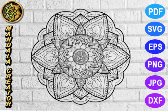 Print on Demand: Mandala Monogram Entangle 11 Graphic Coloring Pages & Books Adults By V-Design Creator