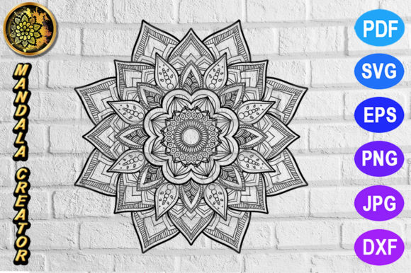 Print on Demand: Mandala Monogram Entangle 12 Graphic Coloring Pages & Books Adults By V-Design Creator