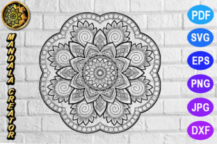 Download Free Mandala Monogram Entangle 13 Graphic By V Design Creator for Cricut Explore, Silhouette and other cutting machines.