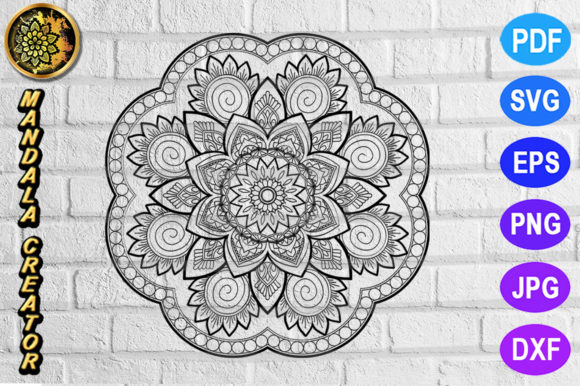 Print on Demand: Mandala Monogram Entangle 13 Graphic Coloring Pages & Books Adults By V-Design Creator
